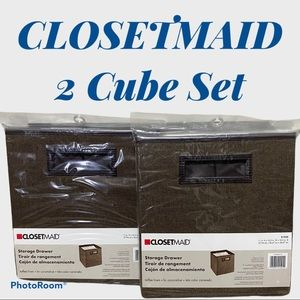 2 Closetmaid storage cube set 11x10.5x10.5…